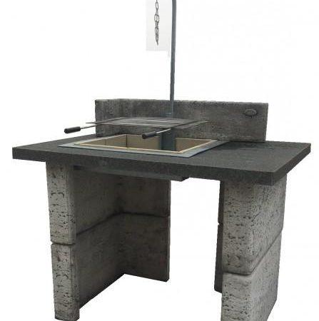 Innova séf grill andezit lappal H90 cm Sz120cm Súly460kg