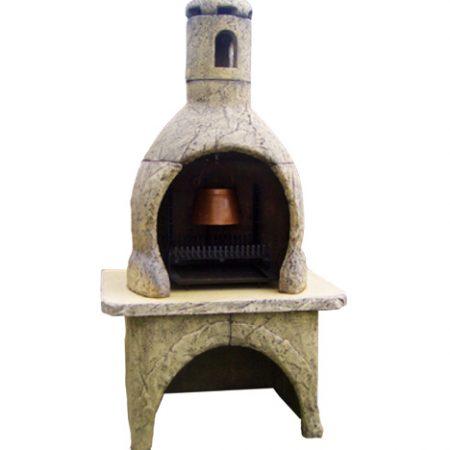 Toscana grill mediterrán antik színben M225cm H95cm Sz130cm Súly720kg