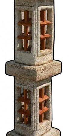 Pagoda dupla kőlámpás M140cm H35cm Sz35cm Súly103kg