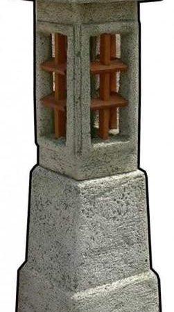 Pagoda kőlámpás talppal M120cm H35cm Sz35cm Súly93kg
