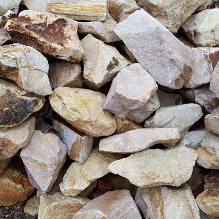 sárgás-barna riolit szikla kövek